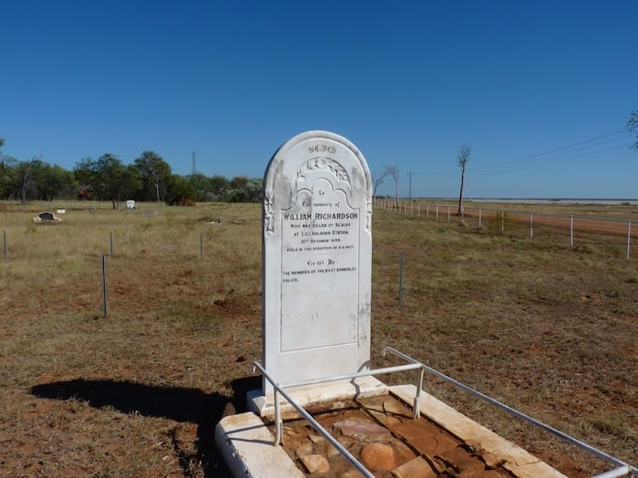Constable Richardson's grave, Derby WA