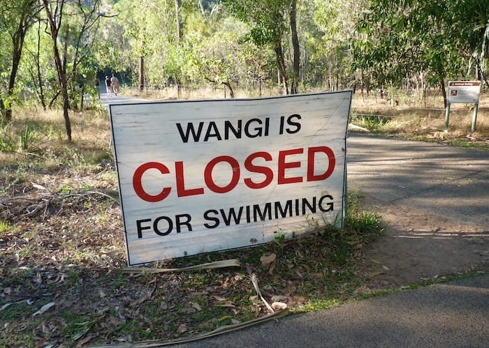 Saltwater Crocodiles - These signs are there for a reason. Litchfield NP, NT