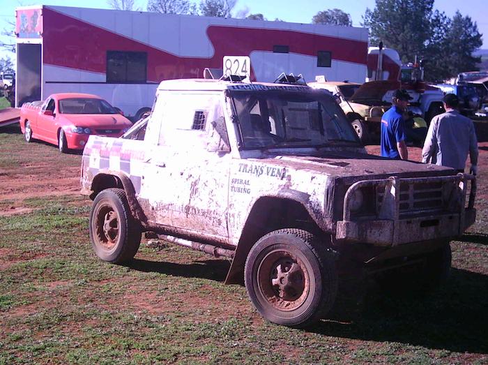 Pajero ute at Condo 750 off road event