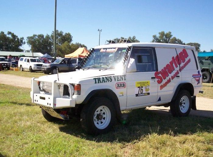 David Glazier's Pajero Race Vehicle at Condo 750