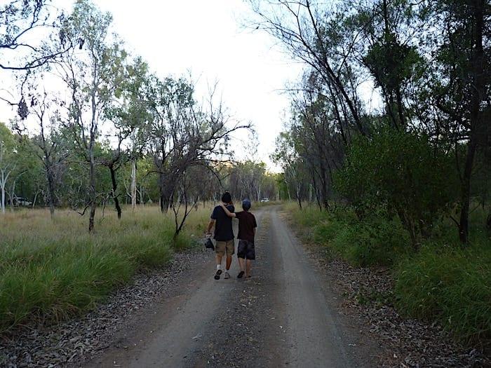 Walking back to camp, Mornington Wilderness Camp.