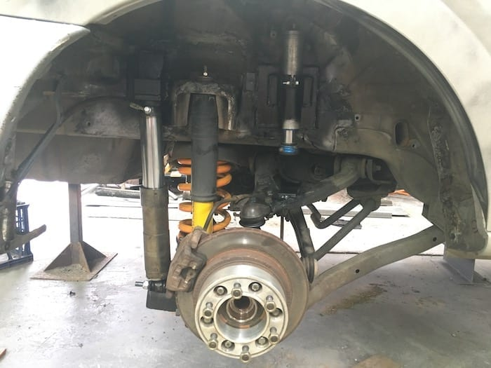 Rear wheels spacer to widen the wheel track. Off Road Suspension.