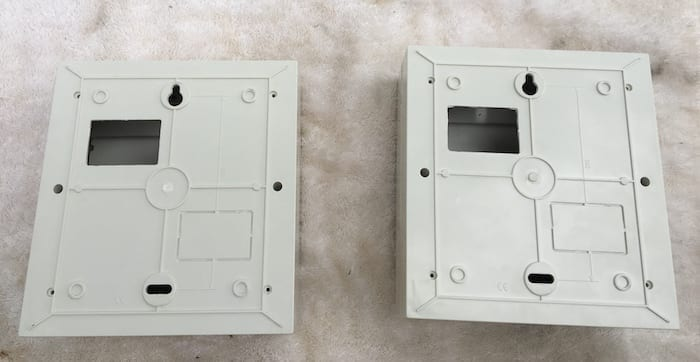 Preparing the circuit breaker panels for mounting onto the backplate. Dual Battery System Layout.