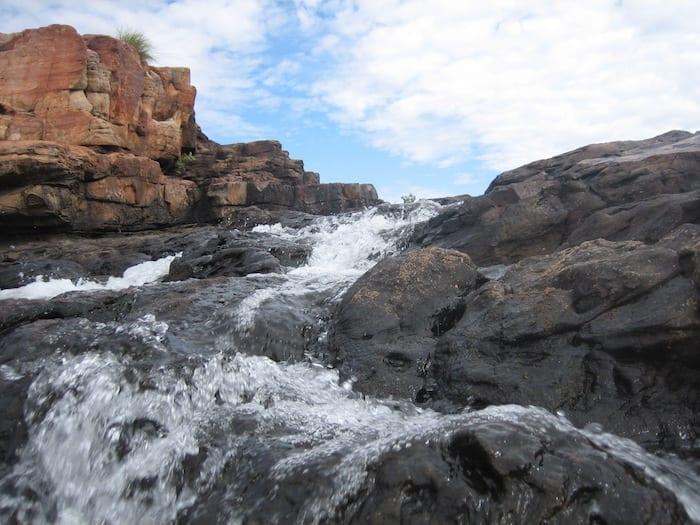 The waterfall at Manning Gorge, near Mount Barnett.