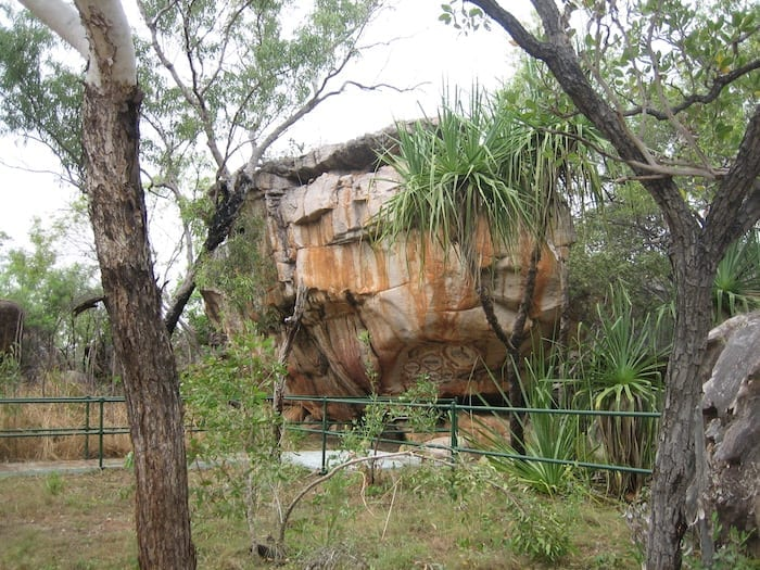 One of the extraordinary Rock Art sites at King Edward River.