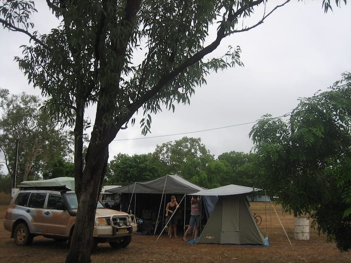 Our campsite at Drysdale River Station.