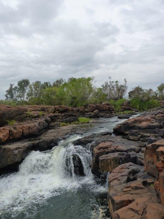 Small waterfall at King Edward River.
