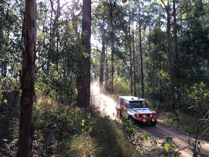 Through the bush, Johns River Rally, 2014. 80s Paint Job Retro Pajero.