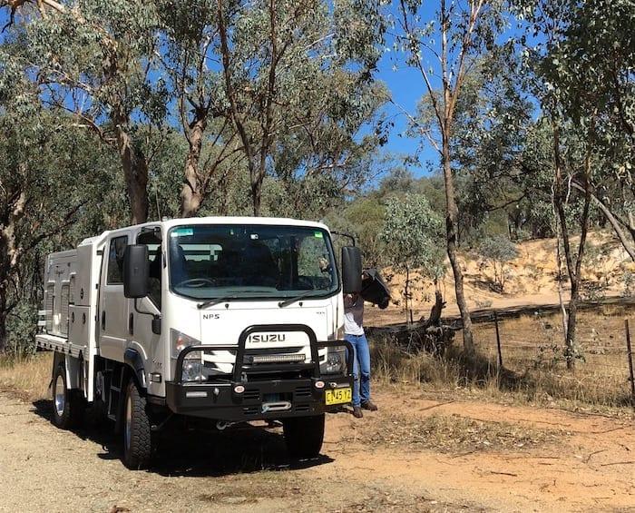 Our Isuzu NPS 75-155 Off Road Truck.