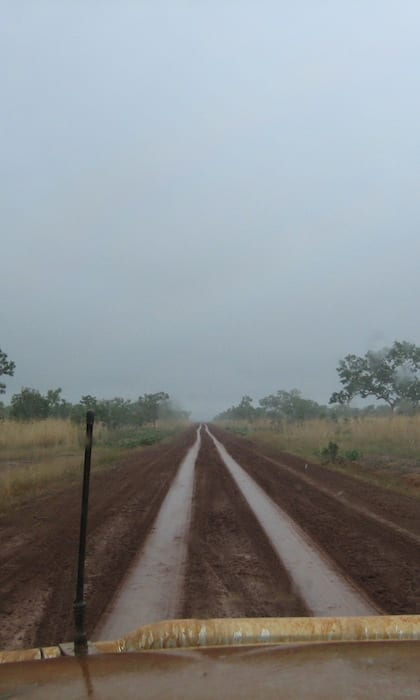 Still a long way to go! Muddy Gibb River Road.