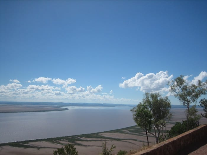Panoramic views from Five Rivers Lookout. Looking North. Wyndham, Western Australia.