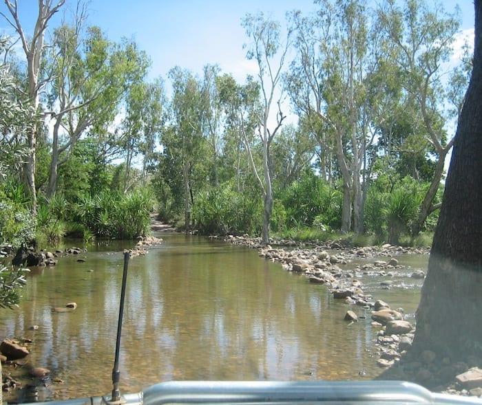 Crossing the Pentecost River at El Questro Station