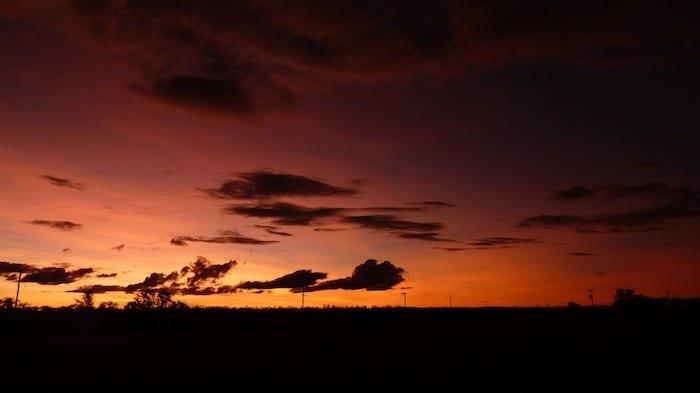 Spectacular sunset at Kununurra.