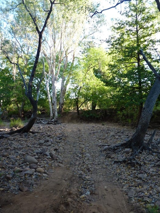 """The """"driveway"""" into our private campsite. El Questro Station Kimberleys."""