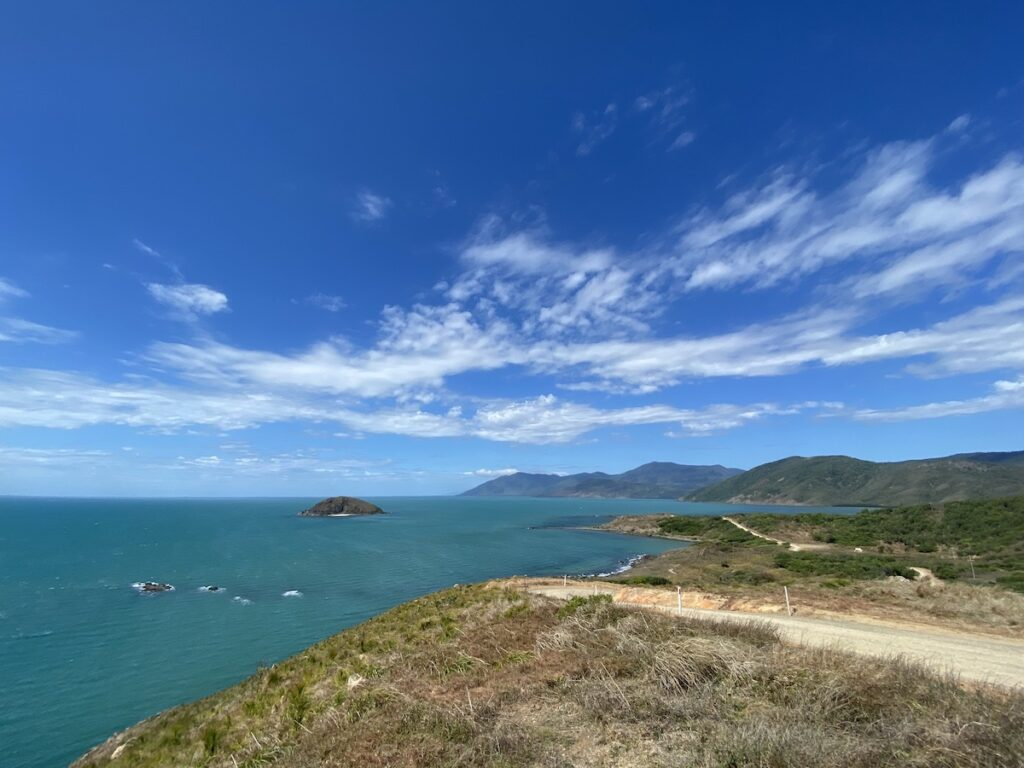 Archer Point, Queensland. A windswept bay, favoured by kite surfers.