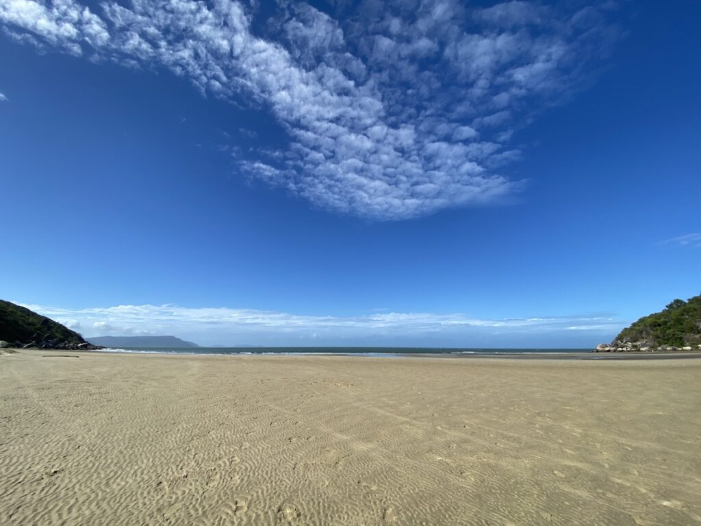 Finch Bay Cooktown QLD. Looking across the sand to the Coral Sea.