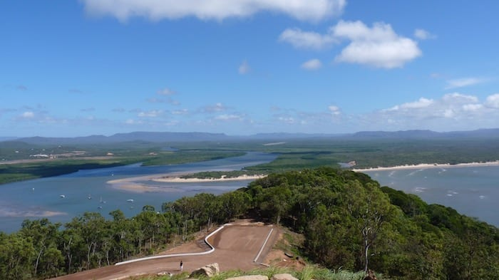 Looking North from Grassy Hill Lookout. Cooktown.