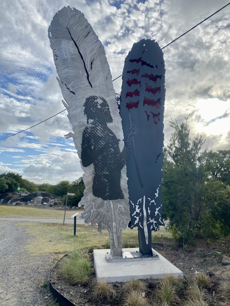 The Reconciliation Sculpture at Cooktown QLD.