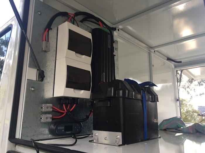 The completed Dual Battery Installation.