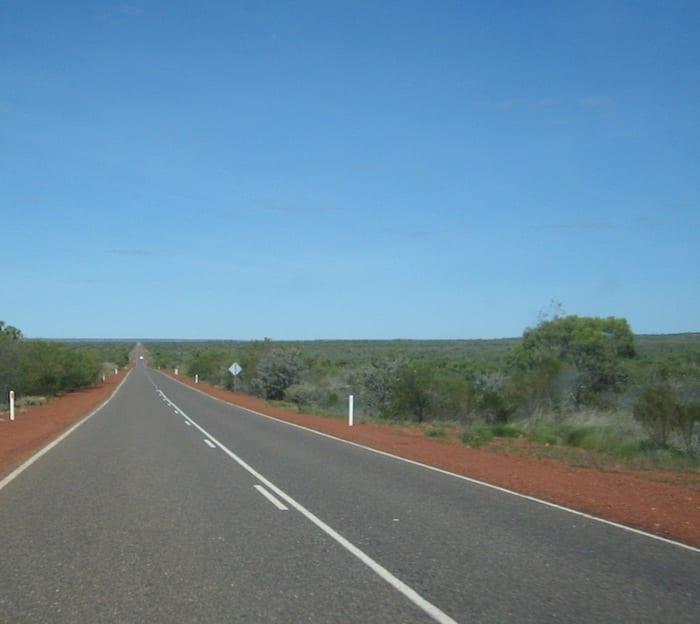 Heading South on the Stuart Highway, Northern Territory. Mataranka To Tennant Creek.