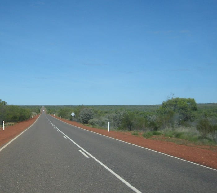 Heading South on the Stuart Highway, Northern Territory. Mataranka To Tennant Creek.
