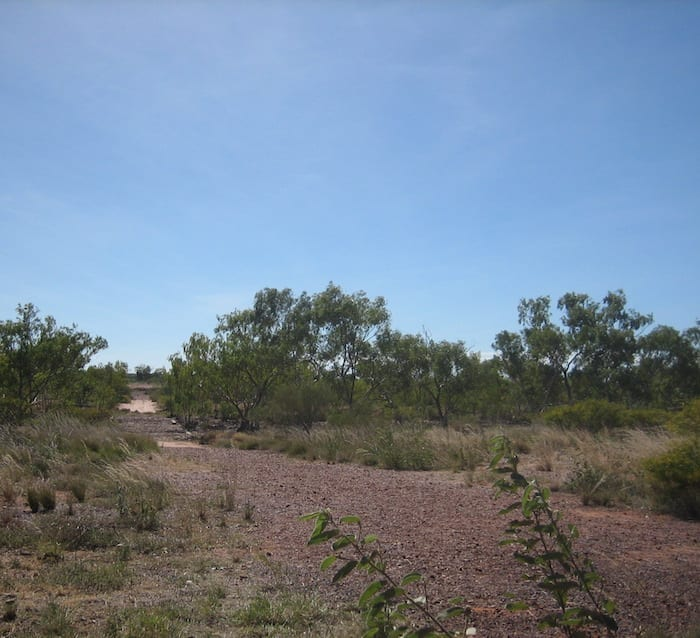 Remnants of the old Stuart Highway at Attack Creek, Northern Territory. Mataranka To Tennant Creek.