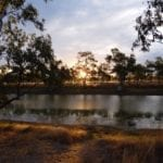 Billabong at Nowranie Campground, Camooweal Caves National Park