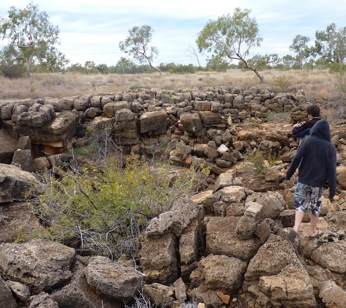 Sinkhole at Camooweal Caves National Park