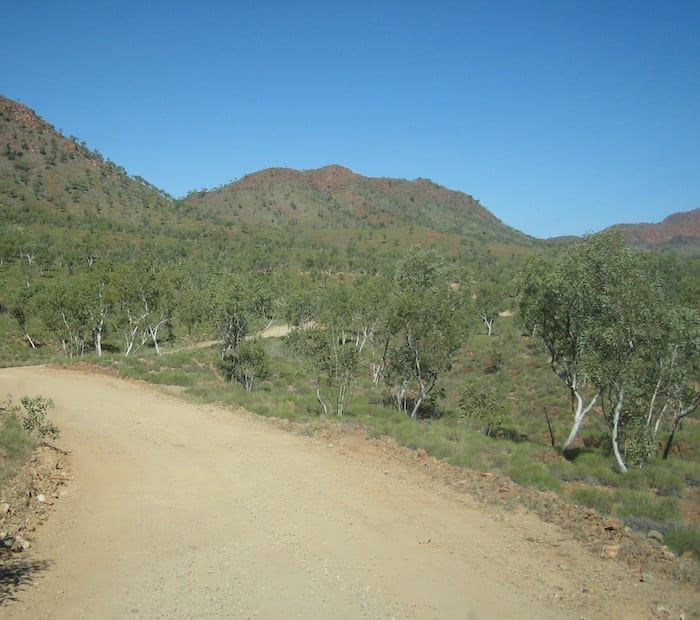 Spring Creek Track, the road into Purnululu National Park.