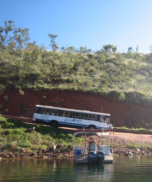 Bertha the bus, Lake Argyle Cruises.