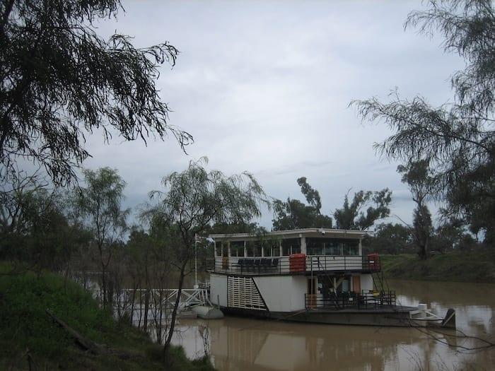 PV Jandra at Kidman's Camp, Darling River, Bourke.