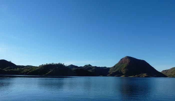 Floating amongst the ranges, Lake Argyle Cruises.