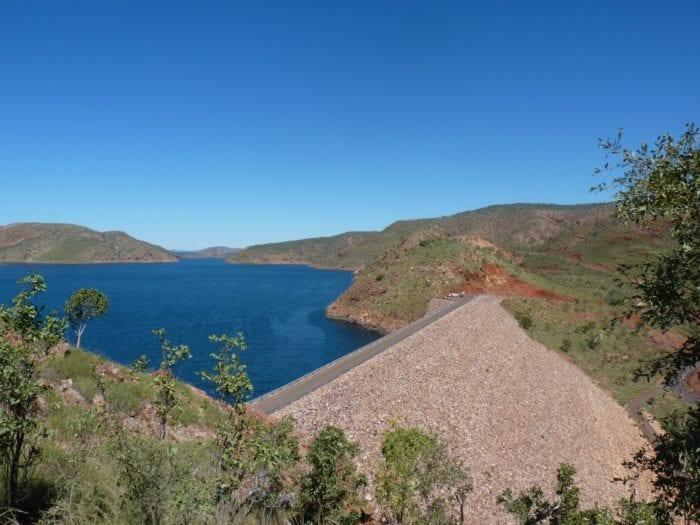 Dam wall, Lake Argyle.