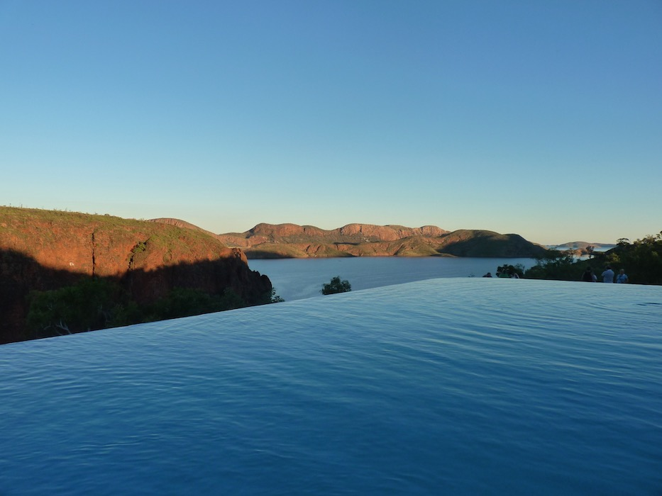 Infinity pool at Lake Argyle resort.