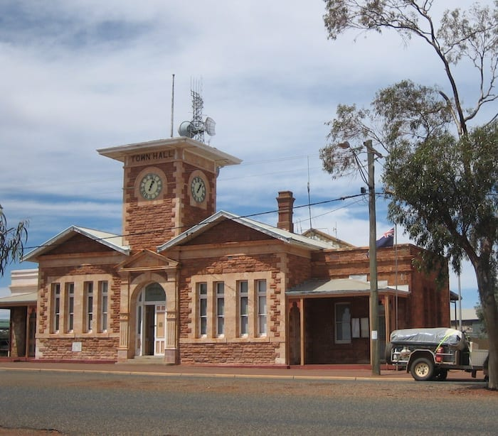 Menzies Town Hall. Golden Quest Discovery Trail.