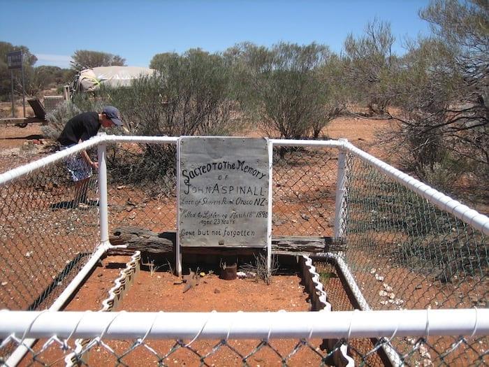 John Aspinall, buried at Hawks Nest after being struck by lightning. Golden Quest Discovery Trail.