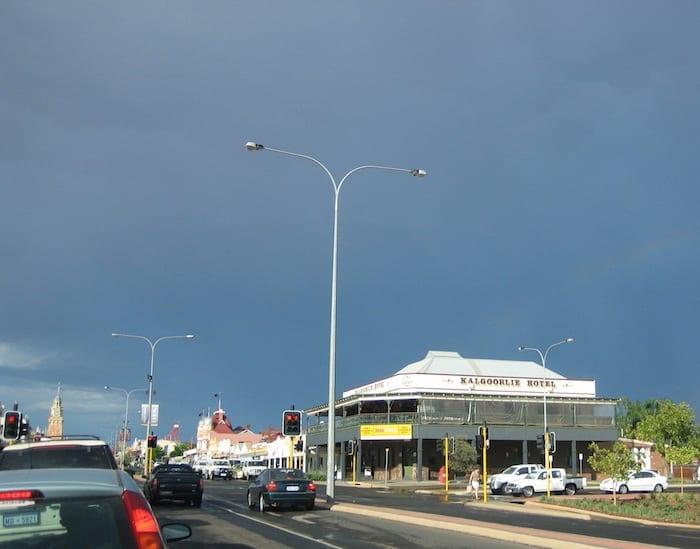 Storm brewing over Kalgoorlie.