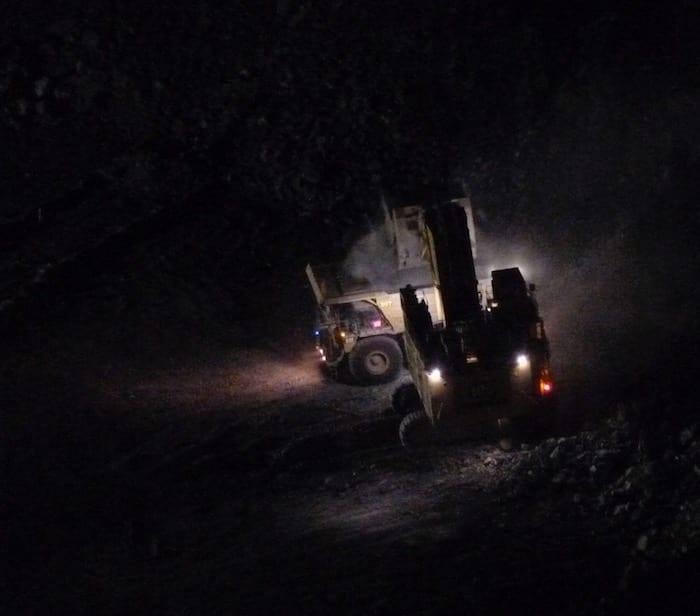 Work continues through the night. Kalgoorlie Super Pit.