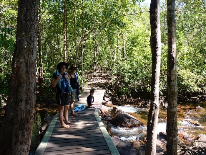 Walking to Florence Falls, Litchfield National Park.