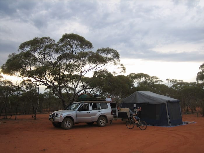 Camping a t Rowles Lagoon. Golden Quest Discovery Trail.