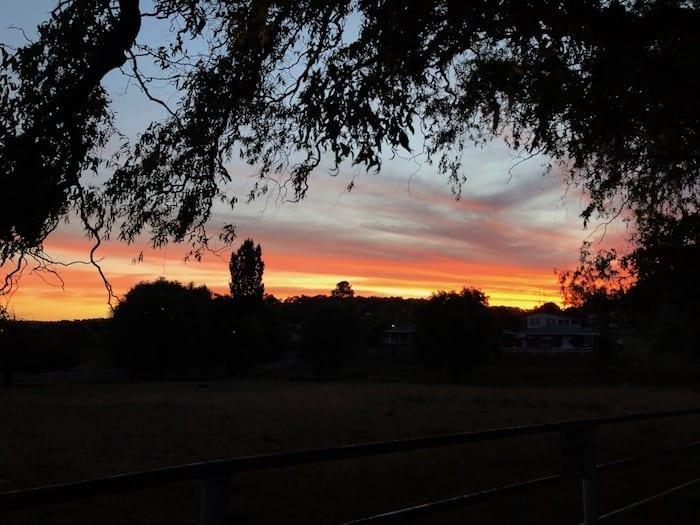 Sunset over Walcha.