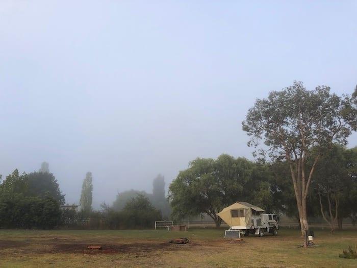 Early morning mist, Walcha.
