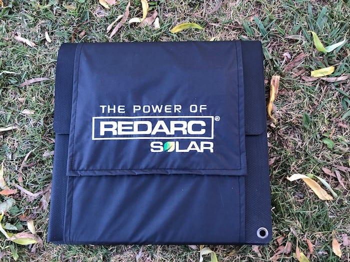 REDARC 115W SunPower Cell solar blanket wrapped up.