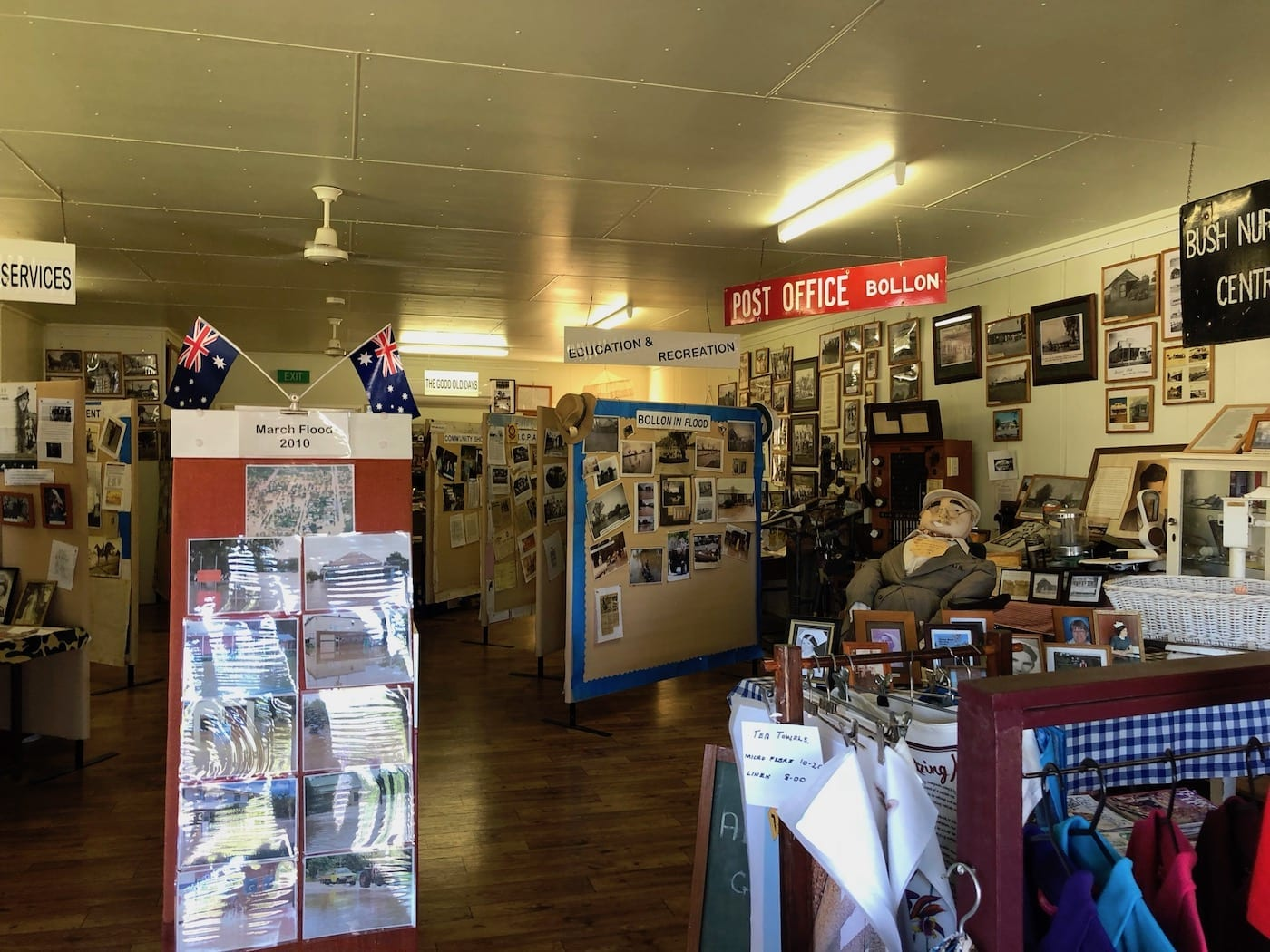 Inside the Heritage Centre at Bollon QLD.