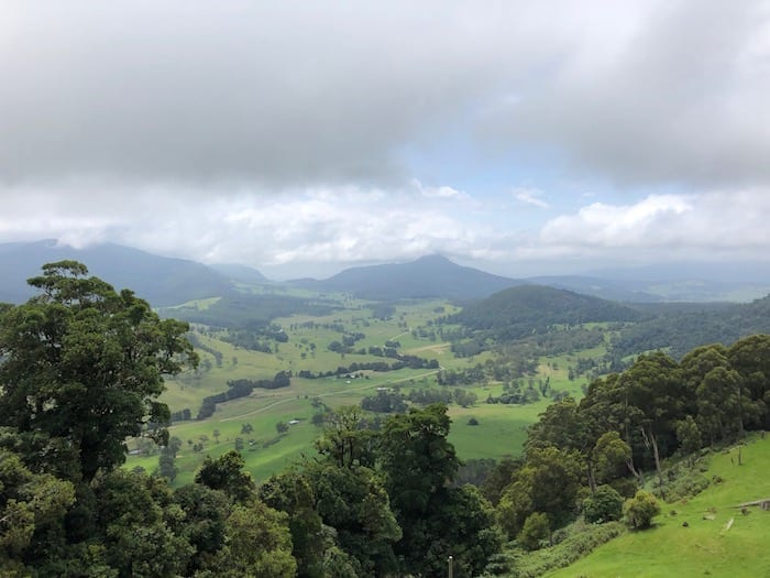 Spectacular views in the Border Ranges.