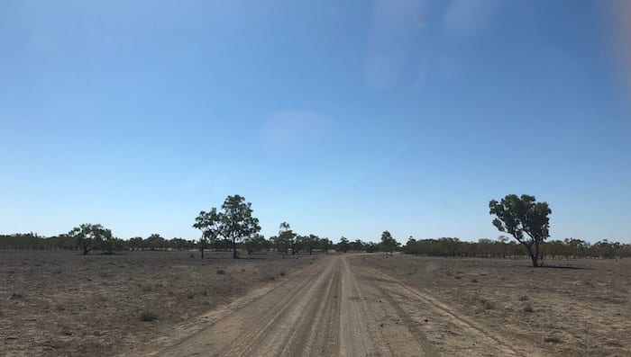 Darling River Run road conditions from Barrier Highway to Louth.
