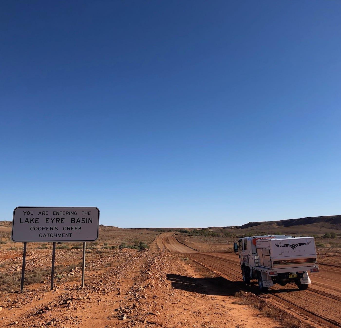 Entering the Eyre Basin North of Tibooburra.