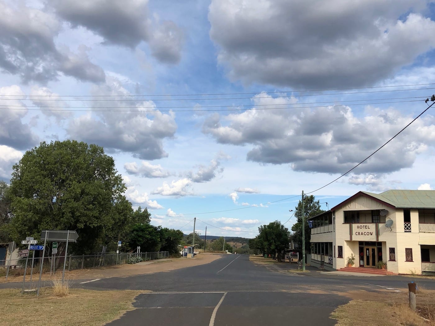 The main street, Cracow QLD.