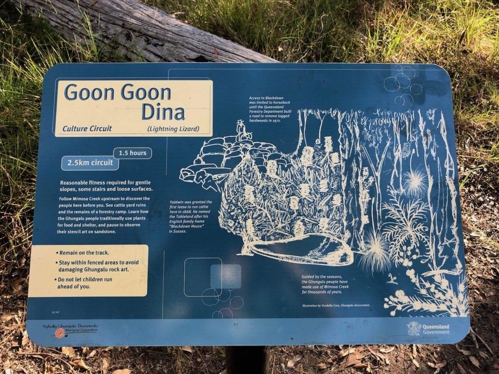 Goon Goon Dina walk. Walks In Blackdown Tableland NP.