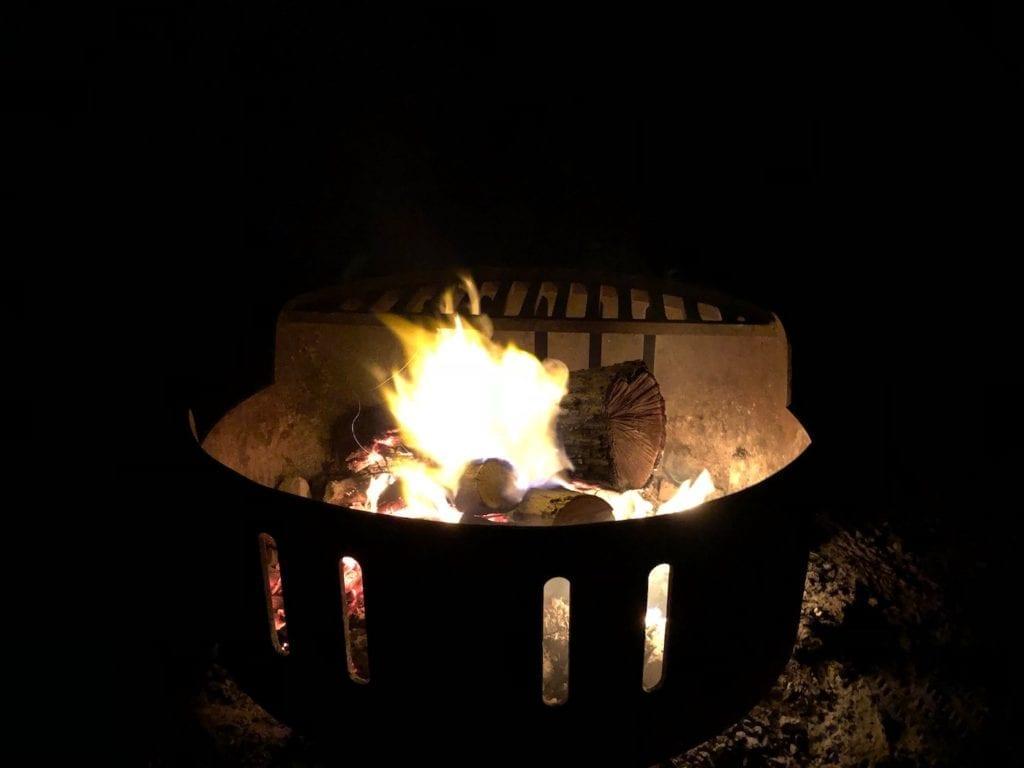 Campfire at Blackdown Tableland National Park.